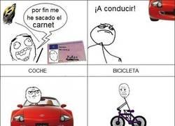 Enlace a Coche vs bici