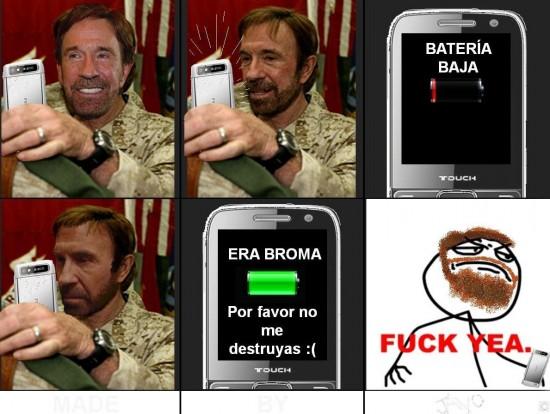 Fuck_yea - Chuck Norris y su móvil