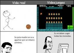 Enlace a Vida real vs videojuegos