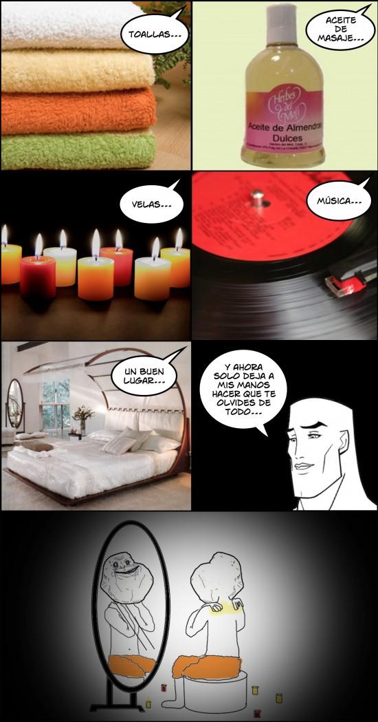 Forever_alone - Un buen masaje