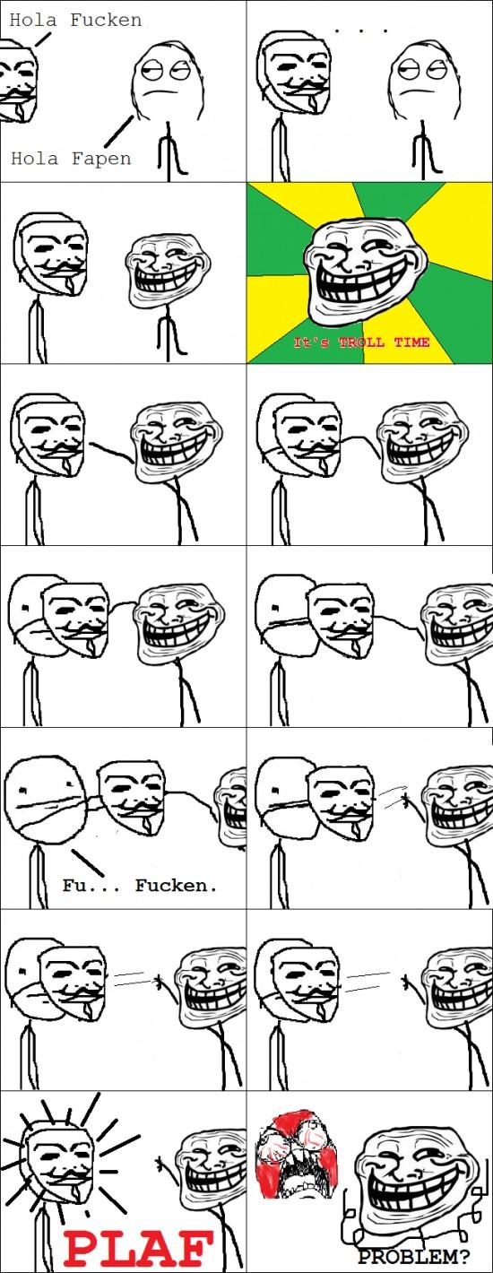 Trollface - Lo malo de llevar máscara