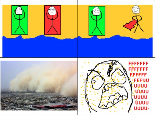 Ffffuuuuuuuuuu - Esas tormentas de arena que se originan cuando alguien agita la tolla
