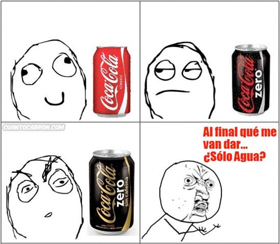 Y_u_no - Coca Cola zero sin cafeína ni burbujas de color transparente
