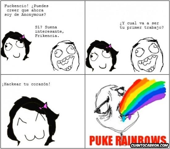 Puke_rainbows - Amor Friki