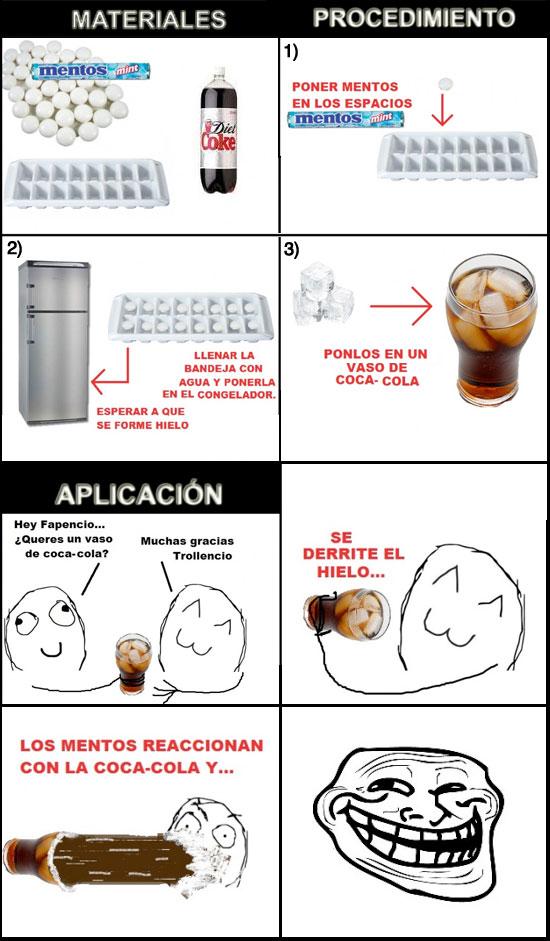 Trollface - Experimento Coca-Cola / Mentos