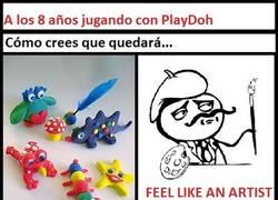 Enlace a Falsas ilusiones con Play-Doh