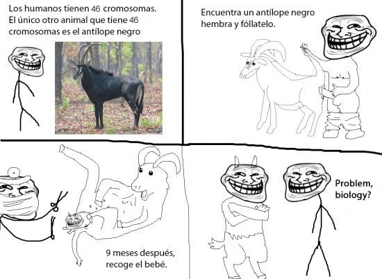 biología,problem?,trollface,trollscience