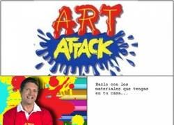 Enlace a Art Attack, siempre con materiales imposibles de conseguir