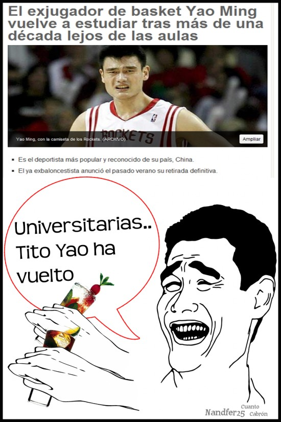 Yao - Yao Ming vuelve a la universidad