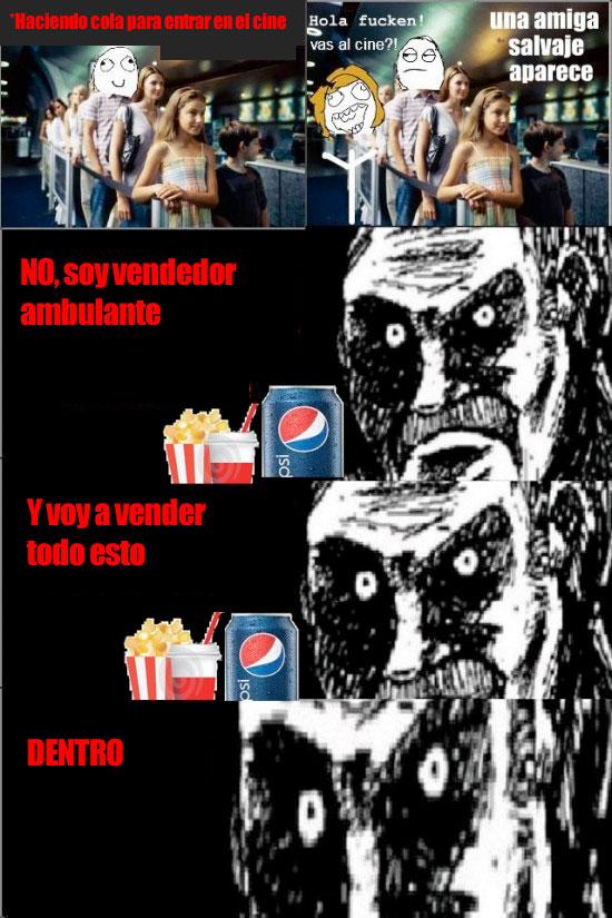 Mirada_fija - Haciendo cola en el cine