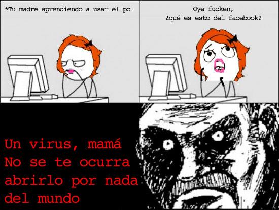 facebook,mama,mirada fija,pc