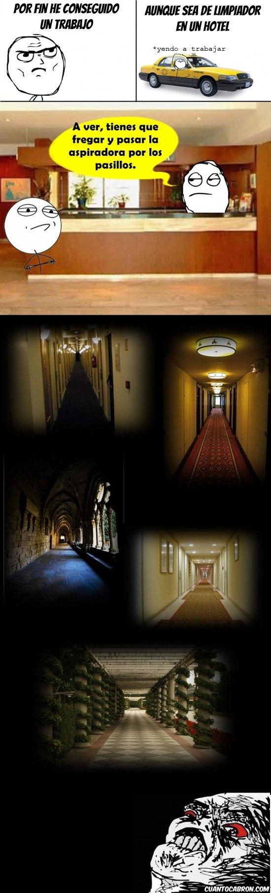 hotel,largo,miedo,pasillo,raisins,trabajo