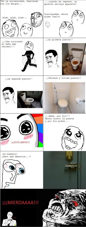 apretón,baño universidad,cagar,cerrojo,suciedad,true story