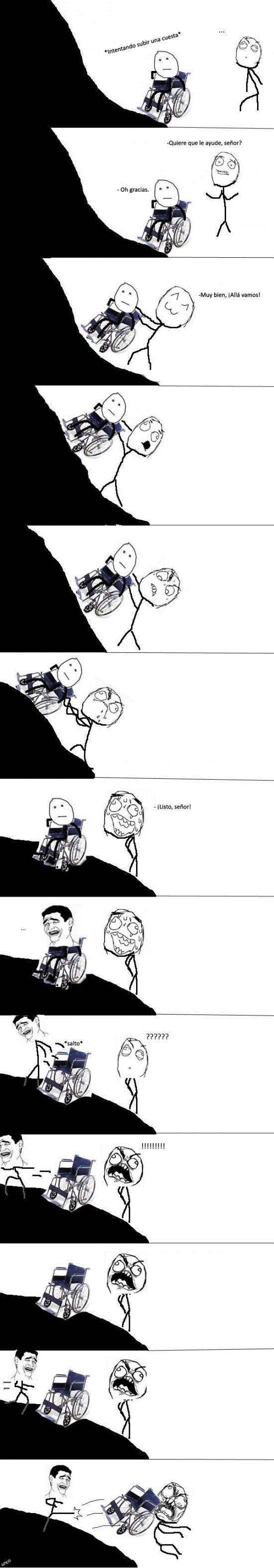 cuesta,silla de ruedas,subir