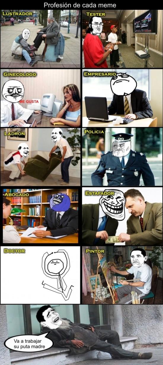 Mix - Profesión de cada meme