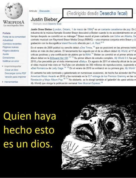 caca justin bieber wikipedia