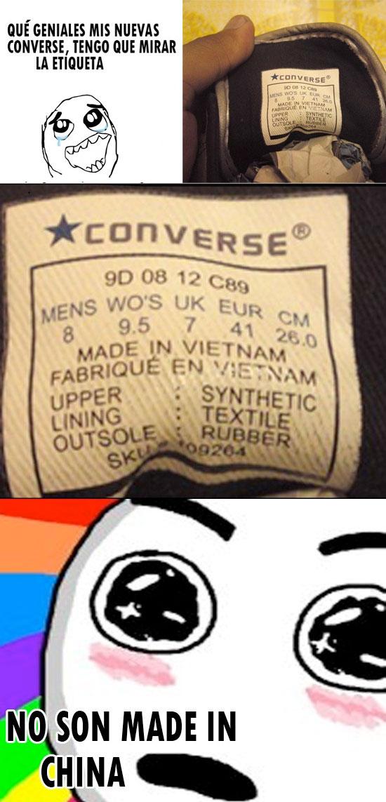 etiquetas converse
