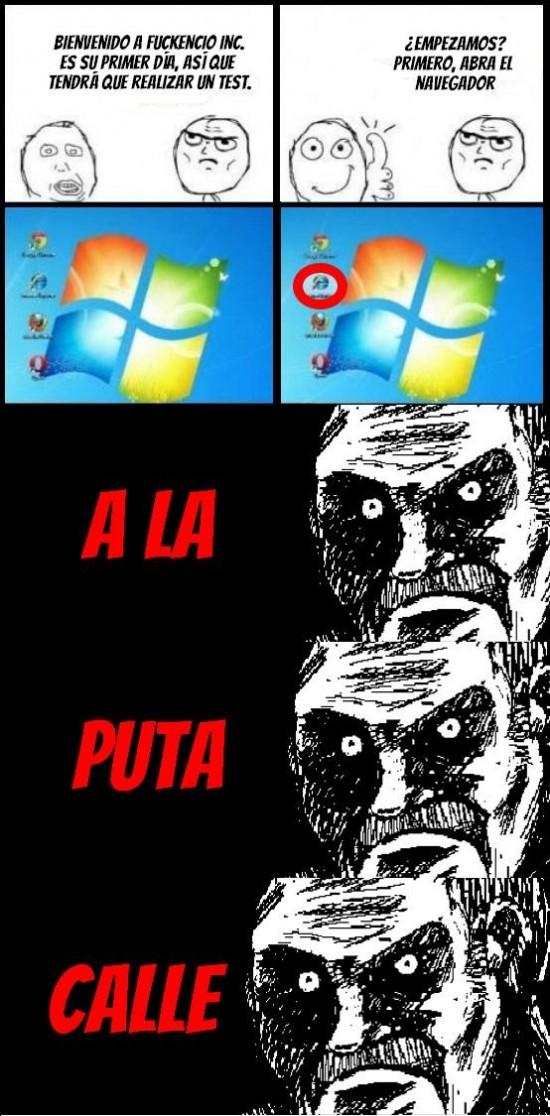 Mirada_fija - ¿Internet Explorer?