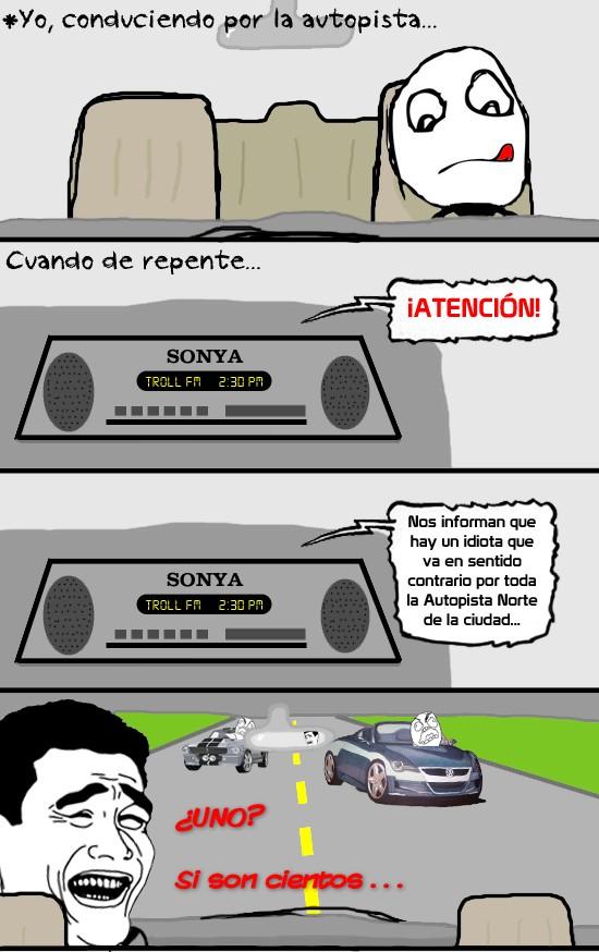 coches,contradirección,Idiota,radio,yao ming