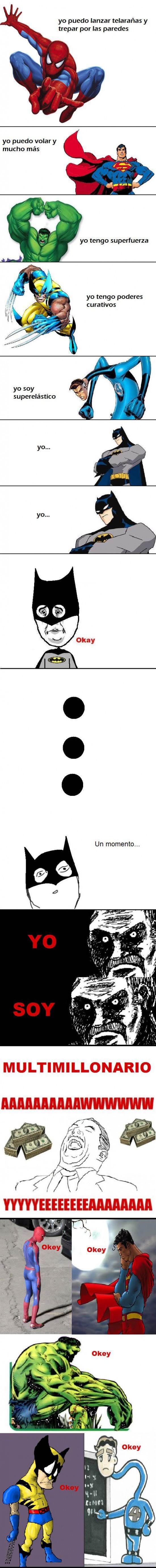 aww yea,batman,hulk,lobezno,mirada fija,okey,spiderman,sr.fantastico,superman