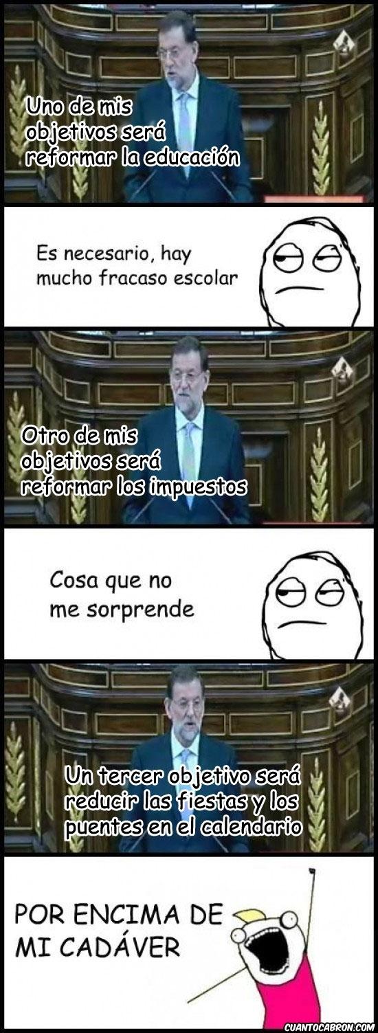 Otros - ¿Te acuerdas de todo lo que prometió Rajoy en su discurso de investidura?