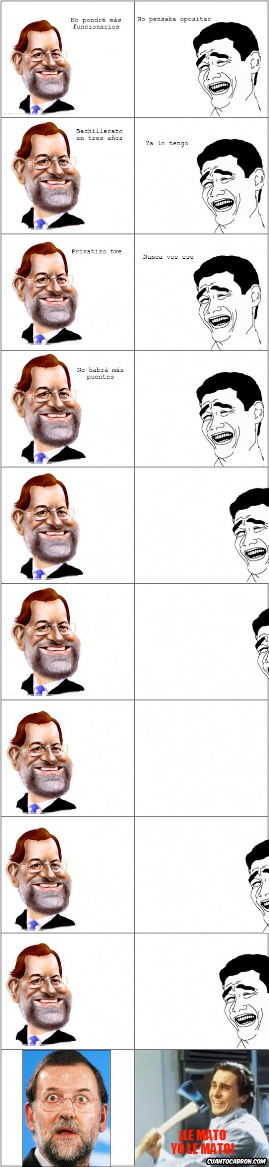 Pat_bateman - Rajar a Rajoy