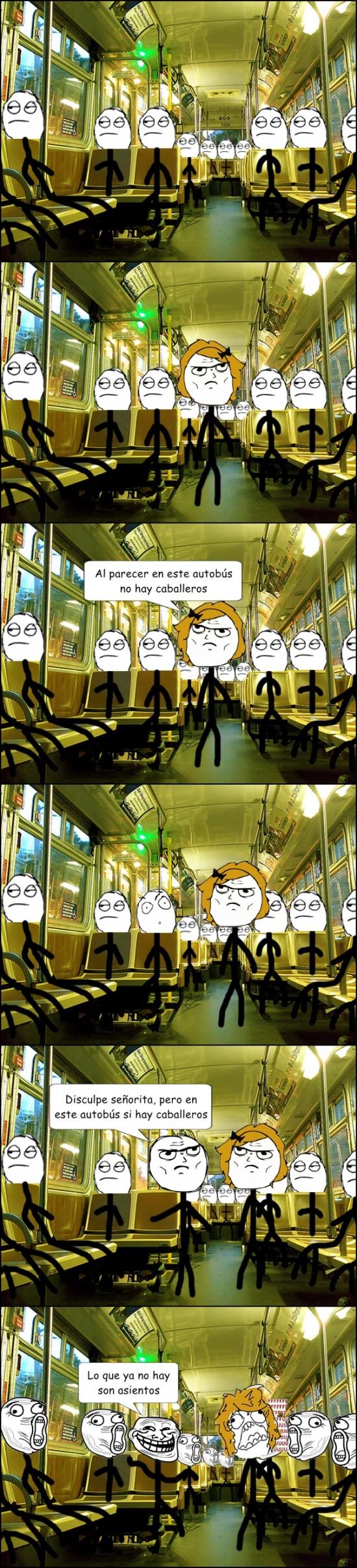 Trollface - Troll en el autobús