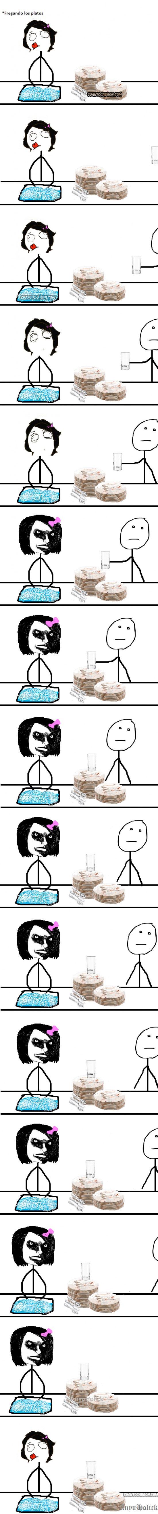 Pokerface - Lavando los platos