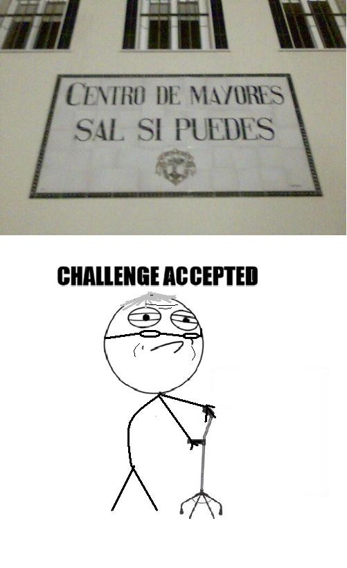 Challenge_accepted - Sal si puedes