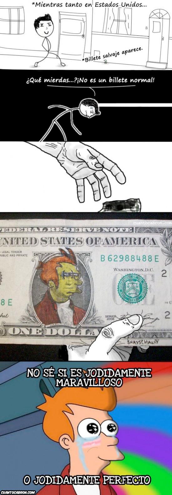Fry - Encontrando un billete un tanto especial
