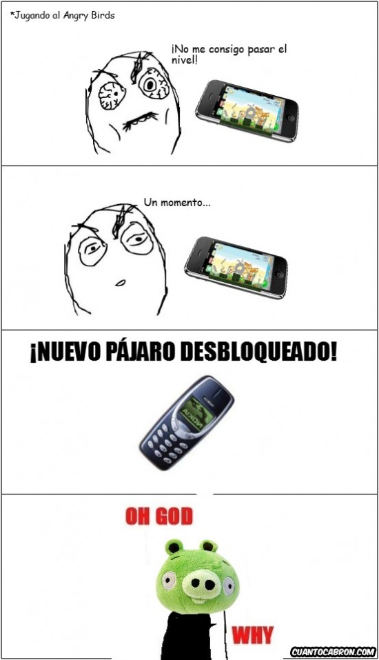 Oh_god_why - Nokia en Angry Birds