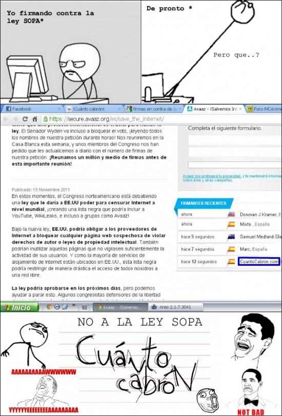 Mix - Cuánto Cabrón, contra la ley SOPA
