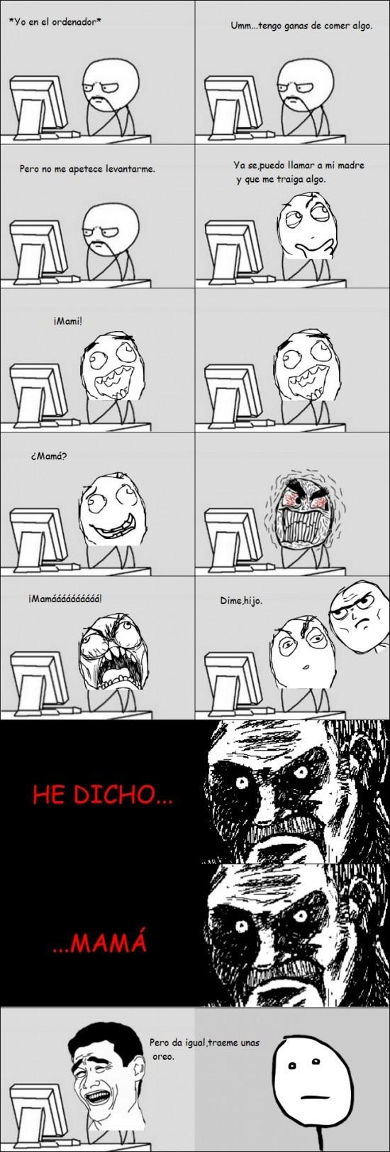 Madre,ordenador,oreo,padre,yo