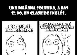 Enlace a Hambre en clase de Inglés