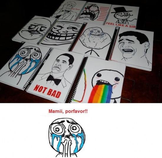 cuadernos,libreta,meme,not bad,obama,puke,troll face,yao ming