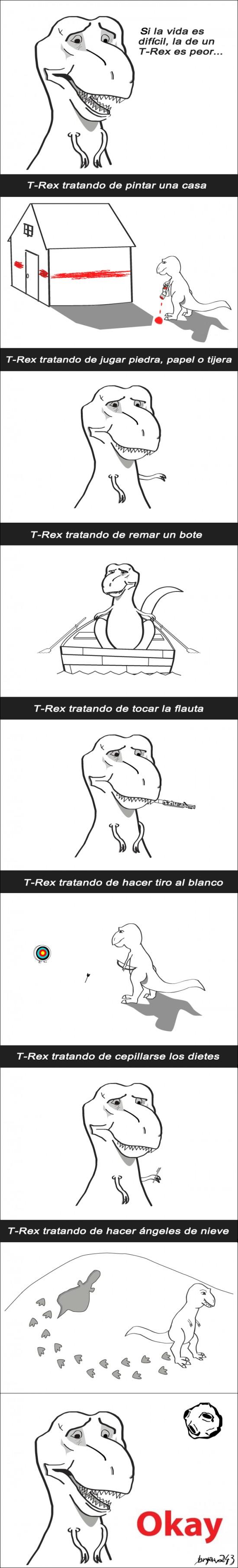 brazos cortos,dinosaurio,okay,t-rex