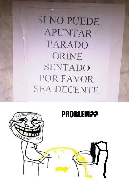 Trollface - Problem, baños públicos?