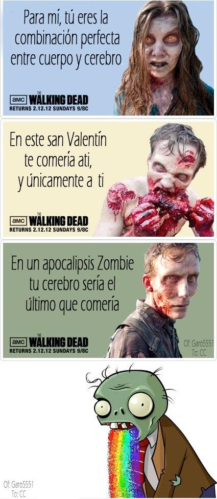 Amor,Puke rainbows,San valentin,the walking dead,Zombie