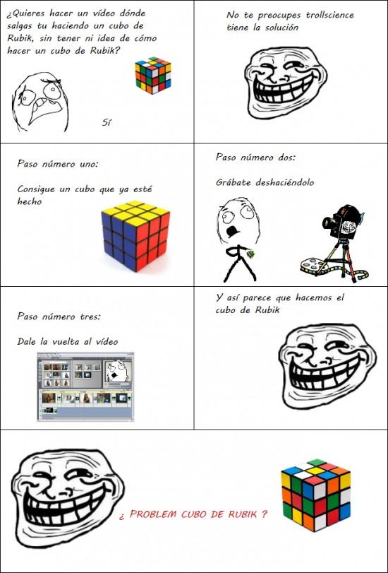 Trollface - ¿ Problem, cubo de Rubik ?