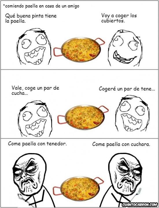 Infinito_desprecio - Y tú, ¿cómo te comes la paella?