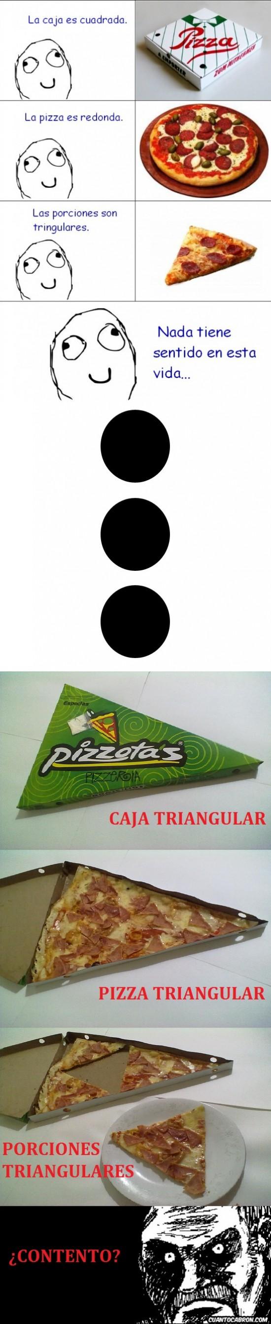pizza sentido caja porciones triangular triangulares respuesta