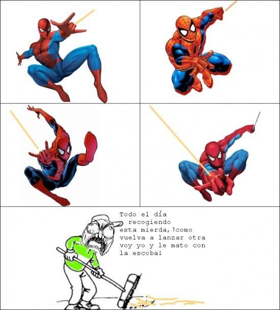 recoger,spiderman,telaraña