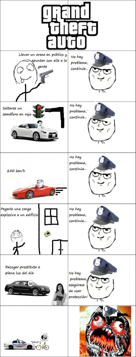 fuuu,grand theft auto,GTA,logica,policia,surrealista