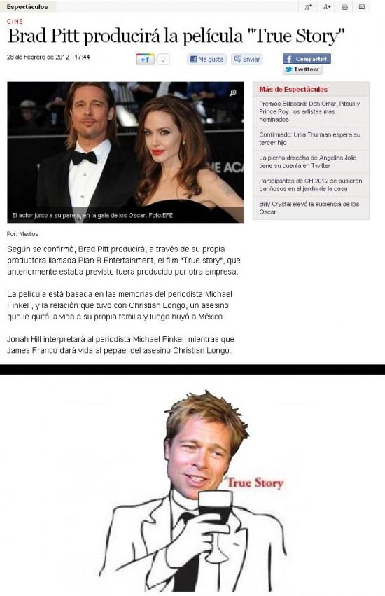 Brad Pitt,producir,True Story