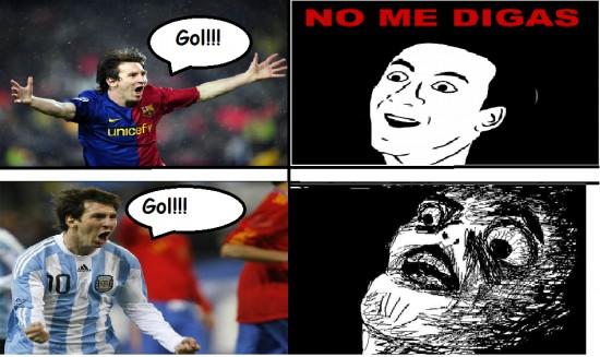 Inglip - Messi según el equipo