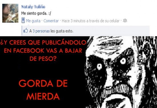 facebook,gorda,mirada fija,mujer