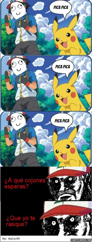 ash,ash ketchum,mirada fija,pikachu,pokemon