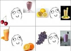 Enlace a Lógica de colores de batidos y frutas