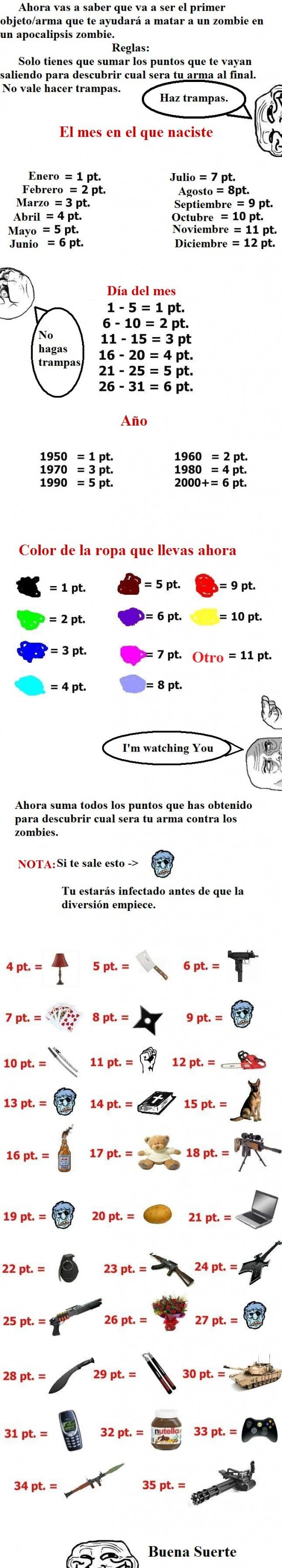 Apocalipsis,I'm watching you,Minigun,No,RPG,Trollface,Zombie