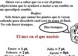 Enlace a Tu arma en el apocalipsis zombie
